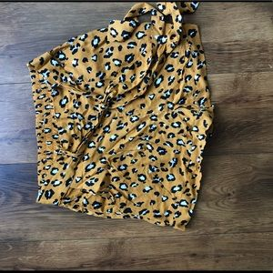 Yellow Leopard Print Shorts